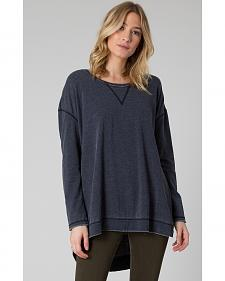 Z Supply Women's Black Weekend Pullover Shirt