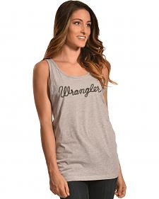 Wrangler Women's Heather Grey Logo Tank
