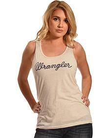 Wrangler Women's Cream Logo Tank