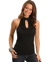 Cripple Creek Ruffled Halter Tank at Sheplers