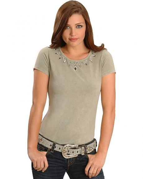 Cripple Creek Embellished Mineral Washed Tee