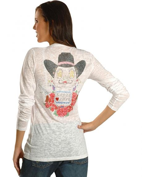 Wrangler Rodeo Love Burnout Tee