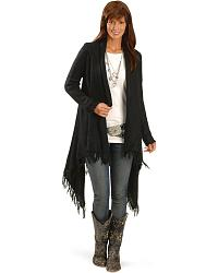 Fringe Trim Cardigan at Sheplers