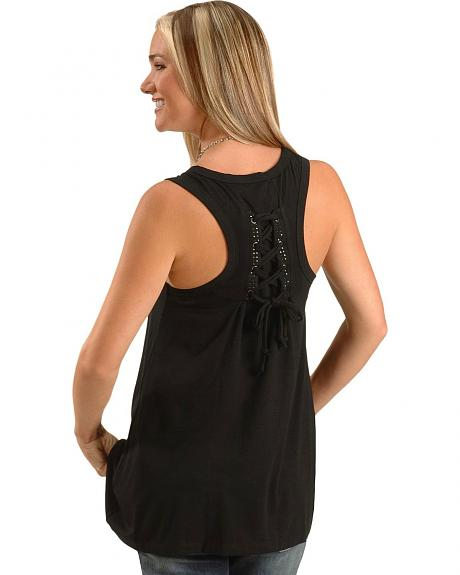 Cripple Creek Black Laced Swing Top