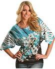 Panhandle Slim Floral Border Sublimation Print Kimono Top