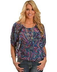 Wrangler Rock 47 Lace Inset Top at Sheplers