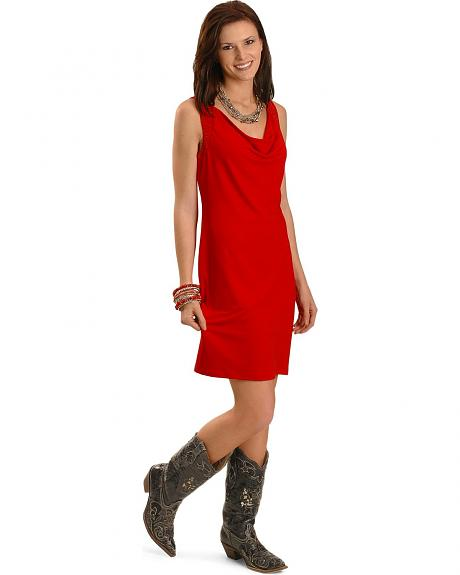 Cripple Creek Red Embroidered Sleeveless Dress