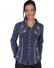 Scully Floral Embroidered Top
