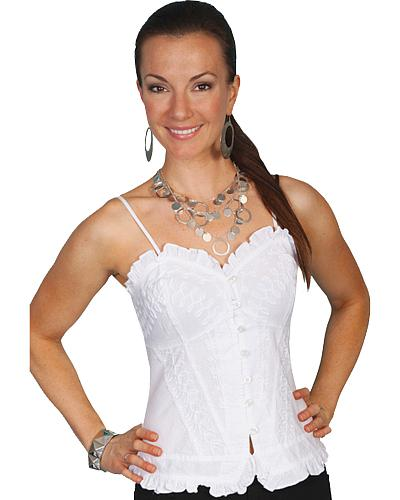 Scully Spaghetti Strap Top Western & Country PSL-117 WT