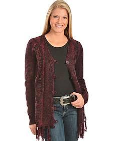 Garnet Marbled Knit Cardigan