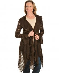 Ariat Hacienda Asymmetrical Brown Cardigan