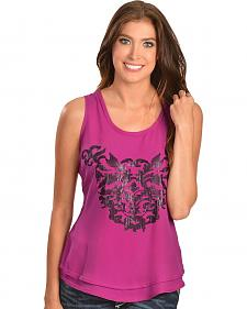 Ariat Ivy Fuchsia Sequin Embellished Sleeveless Top