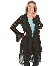 Ariat Hacienda Asymmetrical Black Cardigan