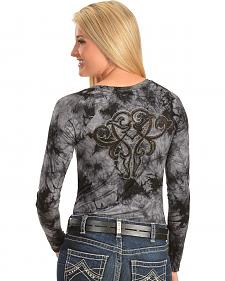 Ariat Rae Tie Dyed Studded Embroidery Tee