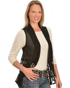 Wrangler Rock 47 Black Lace Vest