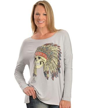 Wrangler Rock 47 Skull w/ Headdress Tee
