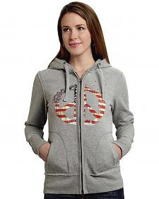 Roper Women's Americana Peace Zip-Up Hoodie
