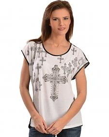 Wrangler Rock 47 Women's Cross Graphic Short Sleeve Top