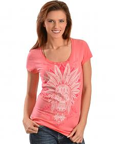 Wrangler Rock 47 Women's Skull Headdress T-Shirt