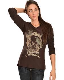 Ariat Women's Queen Slub Long Sleeve Tee Shirt