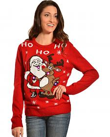 Lisa International Santa & Reindeer Light-Up Christmas Sweater