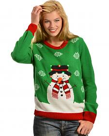 Lisa International Snowman Light Up Christmas Sweater
