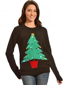 Lisa International Colorful Christmas Tree Light Up Christmas Sweater