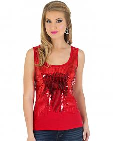 Wrangler Women's Sequin Tank Top
