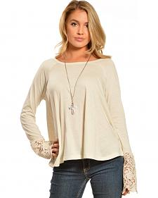 Black Swan Women's Drizzle Long Sleeve Lace Top