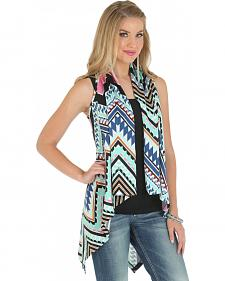 Wrangler Women's Sweater Knit Aztec Print Vest