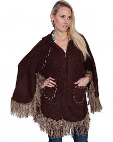Scully Honey Creek Hooded Zip Front Poncho