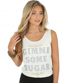 "Wrangler Rock 47 Women's ""Gimme Some Sugar"" Tank Top"