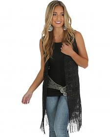 Wrangler Rock 47 Women's Sleeveless Duster with Fringe