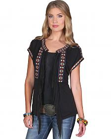 Wrangler Rock 47 Women's Embroidered Vest with Fringe