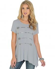 Wrangler Rock 47 Women's Short Sleeve Tunic with Arrow Graphic