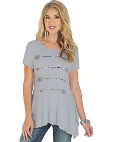 Wrangler Rock 47 Women's Short Sleeve Tunic with Arrow Graphic