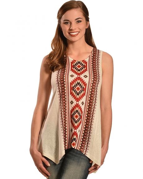 New Direction Sports Women's Sleeveless Aztec Tunic Top