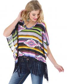 Wrangler Rock 47 Women's Serape Fringe Kimono Top