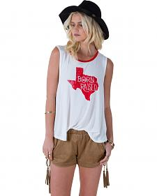 "White Crow Women's ""Born and Raised Texas"" Tank Top"