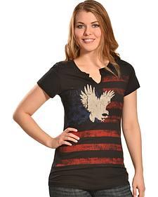 Liberty Wear Women's Patriotic Eagle T-Shirt