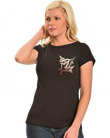 Liberty Wear Women's Black Vintage Life Style Top