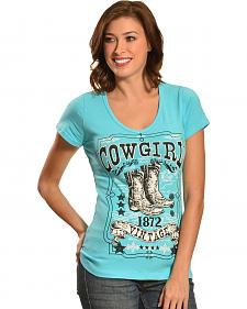 Liberty Wear Women's Vintage Cowgirl Tee