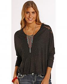 Panhandle Slim Women's Lace Dolman Blouse