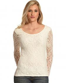 Panhandle Slim Women's Lace Knit Top