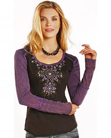 Panhandle Slim Women's Embellished Stones Top