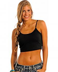 Panhandle Slim Women's Black Cropped Cami