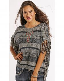 Panhandle Slim Women's Fringe Poncho Sweater