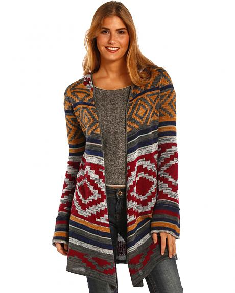 Panhandle Slim Women's Aztec Hooded Sweater