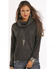 Panhandle Slim Women's Grey Yarn Sweater