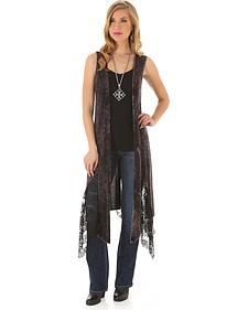 Wrangler Rock 47 Women's Sleeveless Lace-Inset Duster